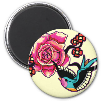 Bird & Rose Magnet