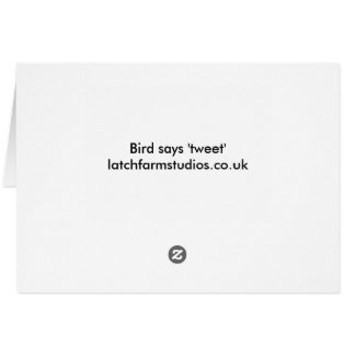 Bird says 'tweet' cute blue ceramic couple card