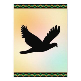 Bird Silhouette 14 Cm X 19 Cm Invitation Card