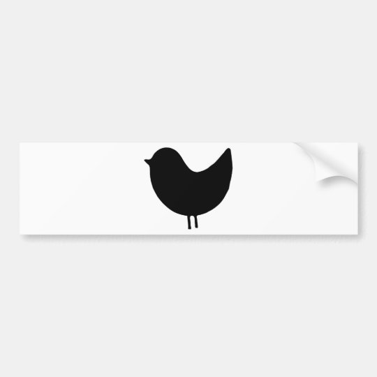 Bird Silhouette Design! Bumper Sticker