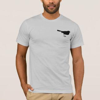 Bird Silhouette vintage style gray mens tshirt