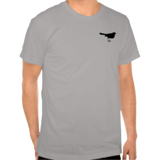 Bird Silhouette vintage style grey mens tshirt
