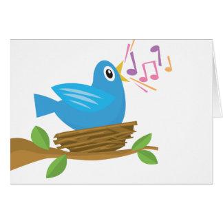 Bird Singing Card