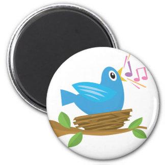 Bird Singing Fridge Magnets