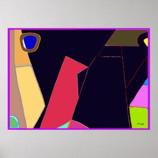 Bird Six Abstract Print