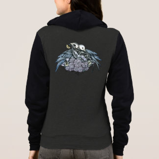 Bird Skeletons in Love Hoodie