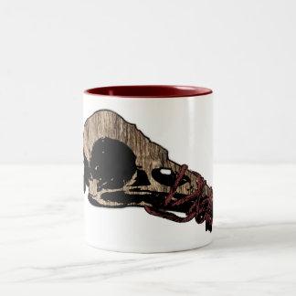 Bird Skull Two-Tone Coffee Mug