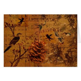 Bird Song Christmas Greeting Card