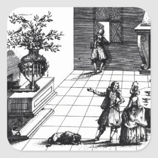 Bird song musical tree, published c.1670 (engravin square sticker