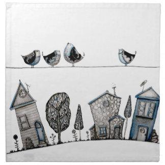 Bird song printed napkins