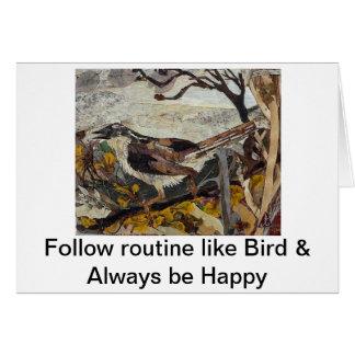 Bird Sparrow Card