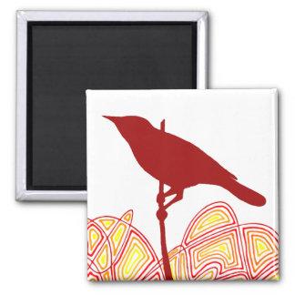 Bird Square Magnet