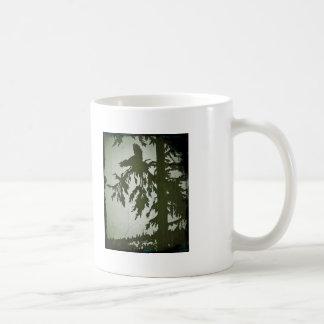 Bird Squawking in a Tree Basic White Mug
