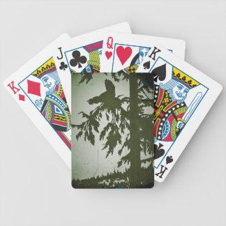 Bird Squawking in a Tree Card Decks