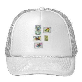 Bird Stamps Hat