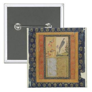 Bird study and calligraphy, Golconda, Andhra Prade Buttons