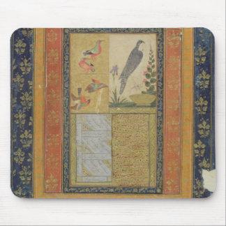 Bird study and calligraphy, Golconda, Andhra Prade Mouse Mat