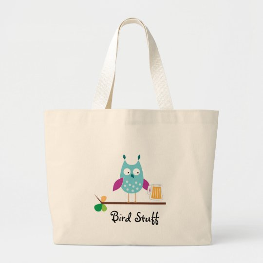 """Bird Stuff"" Jumbo Tote Bag"