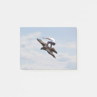Bird Surfing Post-it Notes