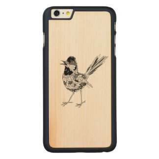 Bird Tattoo Carved Maple iPhone 6 Plus Case