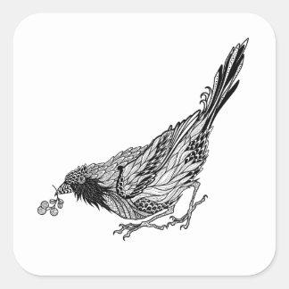 Bird Tattoo Square Sticker