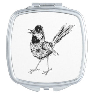 Bird Tattoo Travel Mirror
