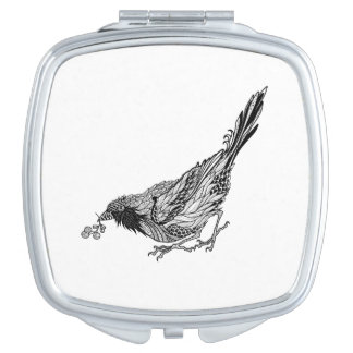 Bird Tattoo Vanity Mirror
