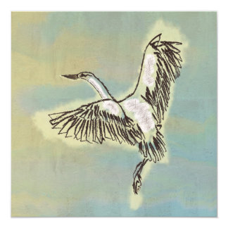 Bird Thank You Card Beautiful Thanks Eco Friendly 13 Cm X 13 Cm Square Invitation Card