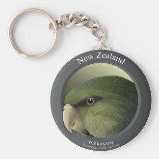 Bird - THE KAKAPO Basic Round Button Key Ring