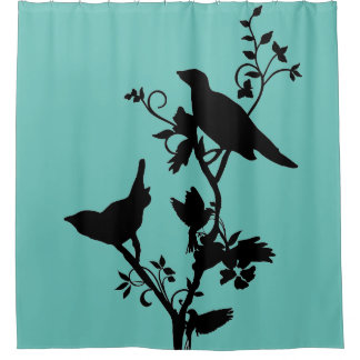Bird Themed Bathroom Decor Shower Curtain