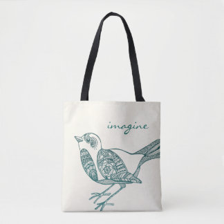 Bird Tote in Teal