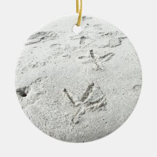 Bird tracks christmas tree ornament