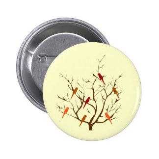 Bird Tree 6 Cm Round Badge