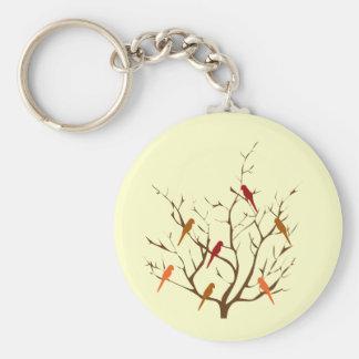 Bird Tree Keychains