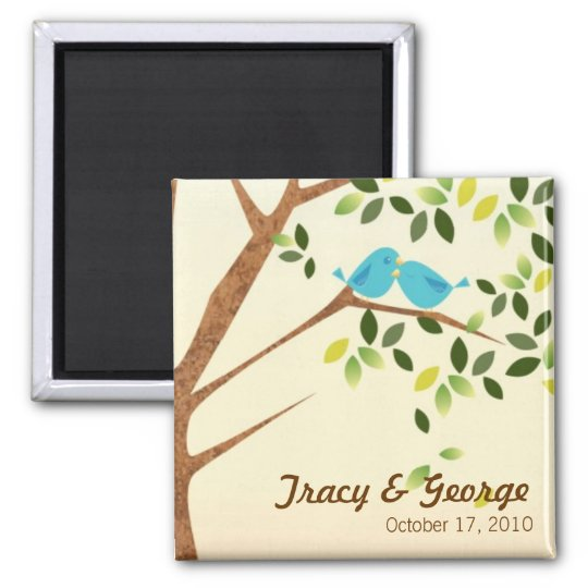 Bird Tree Save the Date Magnet