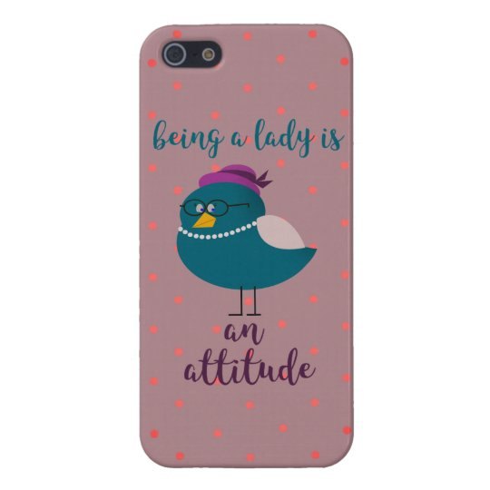 Bird Turquoise Lady Cute Polka Dots Pattern iPhone 5/5S Cover