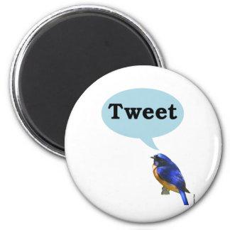 Bird Tweet 6 Cm Round Magnet