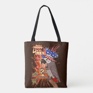 Bird USA Independence day 4th July Tote Bag