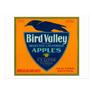 Bird Valley Apple Crate LabelWatsonville, CA Postcard