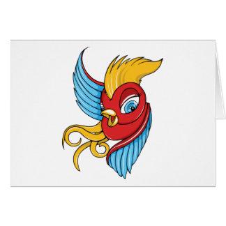 Bird ~ Vintage Forties Tattoo Bird Art Greeting Card
