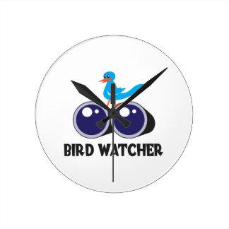 BIRD WATCHER 2 ROUND WALL CLOCKS