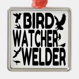 Bird Watcher Welder Christmas Ornament