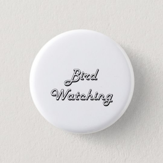 Bird Watching Classic Retro Design 3 Cm Round Badge