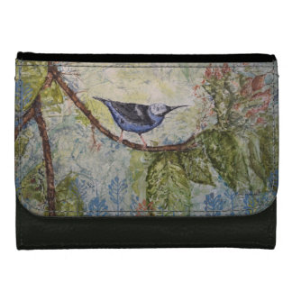 Bird Watercolor Art Wallet