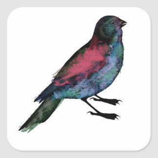Bird Watercolour Square Sticker