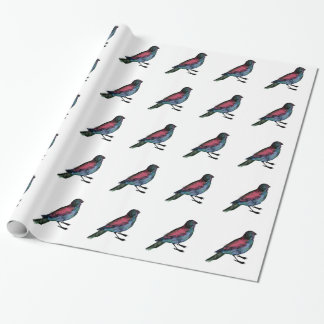 Bird Watercolour Wrapping Paper