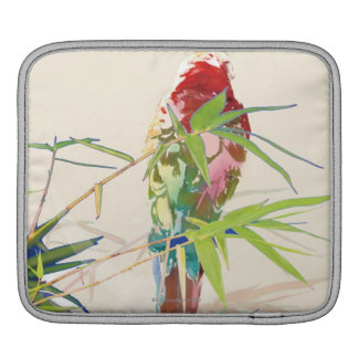 Bird with Bamboo Leaves iPad Sleeve