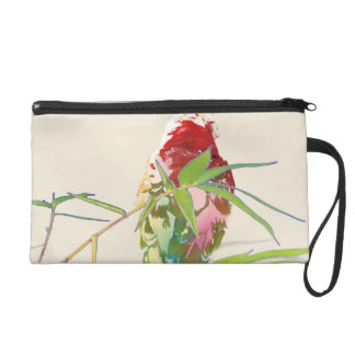 Bird with Bamboo Leaves Wristlet