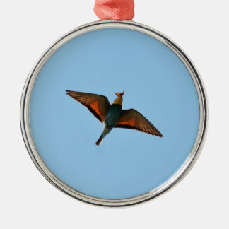 Bird With Butterfly In Beak Christmas Ornament