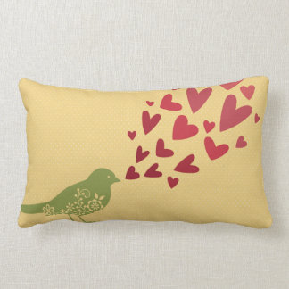 Bird with Hearts Pillow